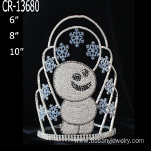 Wholesale snowflake snowmen Christmas pageant crown
