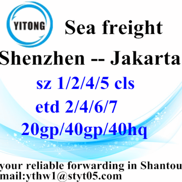 Shenzhen sea freight shipping agent to Jakarta