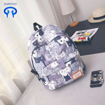 New printed backpack women Korean version travel bag