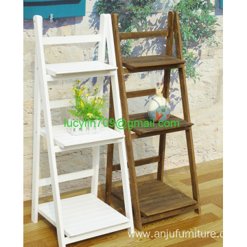 3 Shelf Bookcase, Multifunctional Ladder-Shaped Plant Flower Stand Rack Bookrack Storage Shelves