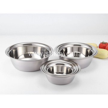 Polished Stainless Steel Soup Basin for Dish