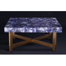 Top for Translucent Stone Panels Translucent or No Translucent blue sodalite table export to France Factories