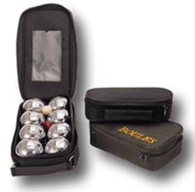 Chrome Bocce Ball Set In Nylon Bag
