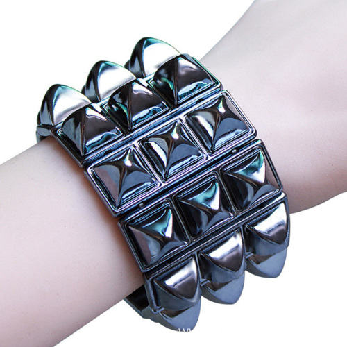 Stretch Acrylic Plate Ladies Bracelet Bangles For Women