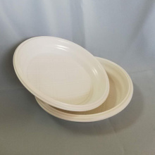 "6.5""Disposable Plastic Round White Plate"