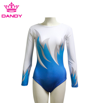 Jinên Fashion Long Sleeveless Gymnastic Leotard Tight Romper