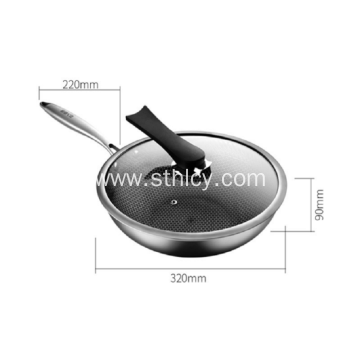 304 Non-stick Stainless Steel Wok
