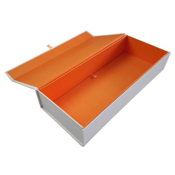 Custom UV Logo Cardboard Orange Gift Box