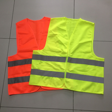 Polyster safety vest with  reflective strip