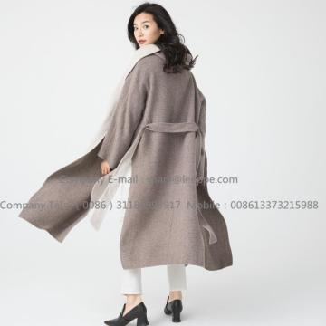 Long Pug Cashmere Coat For Women