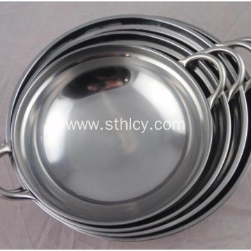 Durable Kitchenware Stainless Steel Pan Cooking Pot