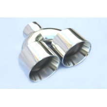 China for Steel Tail Pipes Dual Round Exhaust Tips for Auto car export to Kyrgyzstan Wholesale