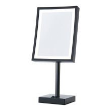 Standing magnifying mirror with light