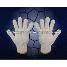 cotton string knitted gloves