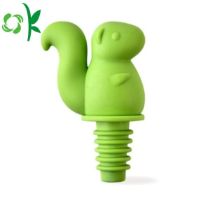 Squirrel Silicone Cute Design Wine Stopper for Cap
