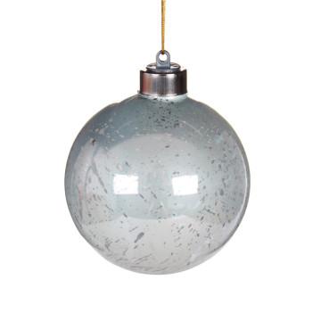 chine led allume la boule de no l en verre avec un logo. Black Bedroom Furniture Sets. Home Design Ideas