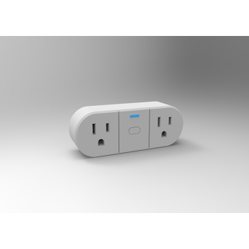 Single control dual output WIFI smart plug