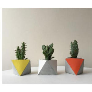 Factory Outlets for Stone Garden Planters Triangular polygon G617 granite flower pot supply to Germany Factories
