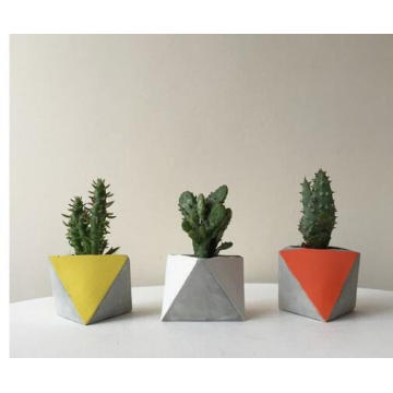 Triangular polygon G617 granite flower pot