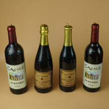 Red Wine Bottle Shaped candles for decoration