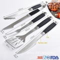TPR soft handle barbecue bbq grilling tool set