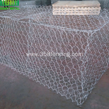 PVC Coated Hexagonal Wire Mesh Gabion Cages