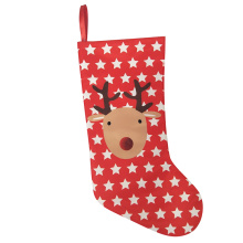 Christmas printed reindeer pattern stocking