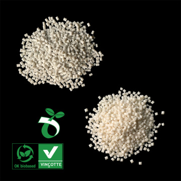 Biodegradable raw material granules