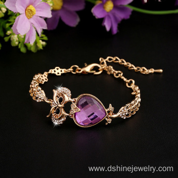 Animal Shaped Crystal Bracelet Owl Bridal Jewellery Bangle