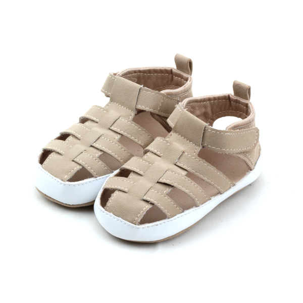 Fashion Soft Rubber PU Leather Baby Sandals