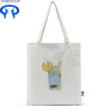Custom illustration canvas bag with single shoulder