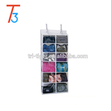 12 pocket fabric Hanging Handbag Organizer purse storage organizer