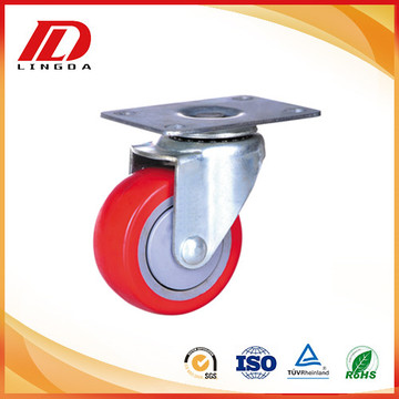 3 inch plate caster with pu wheels