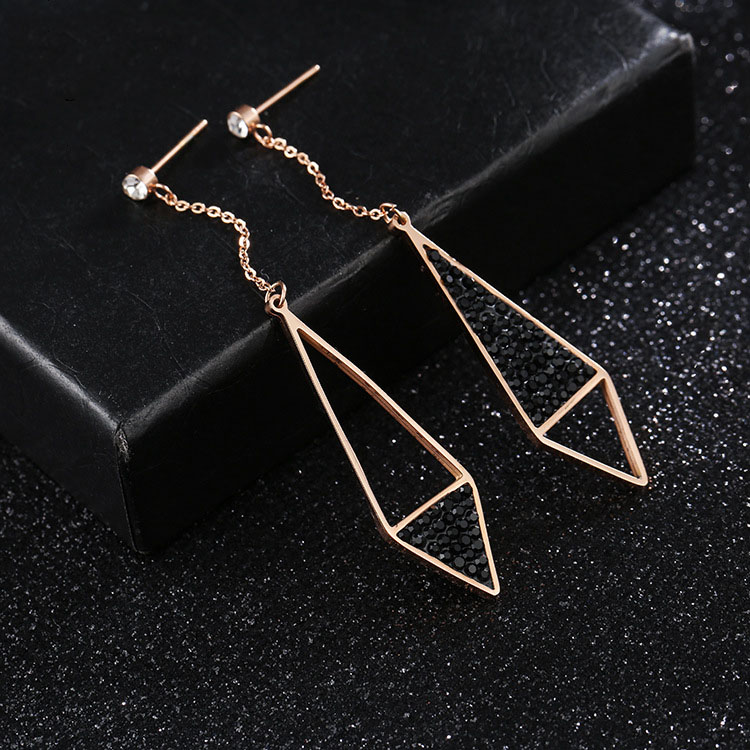Long Crystal Drop Earrings
