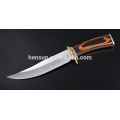 Pakka Wood Brass Guard Satin Blade Hunter Knife