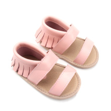 Pink Kids Leather Moccasin Shoes