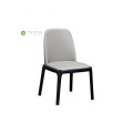 Solid Wood Dining Chair Black Legs