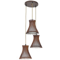 Home-Style e27Decor wood pendant lamp with 3shades