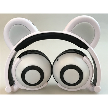 Leading for Bear Ear Headphones Cartoon Panda Ear EarphonesGlowing Wired Headphones supply to Portugal Supplier