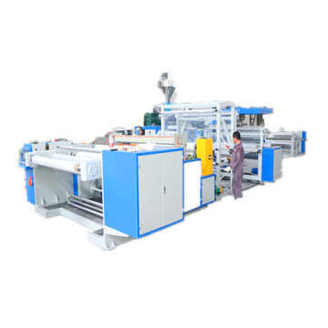 Flow casting transparent film production line