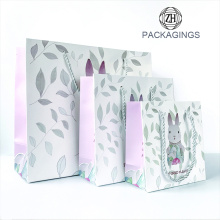 White Cardboard Paper Gift Bag with Handles