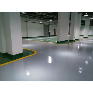 School parking lot self-leveling epoxy floor paint