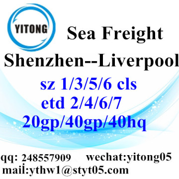 Shenzhen Sea Freight Shipping Agent to Liverpool