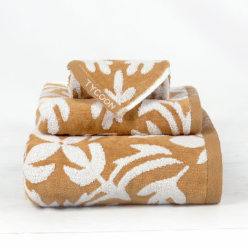 beautiful Jacquard velvet towel set