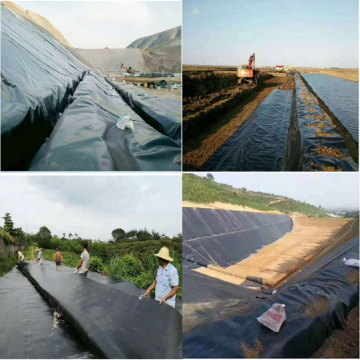 Black High Density polyethylene Geomembrane for Mining