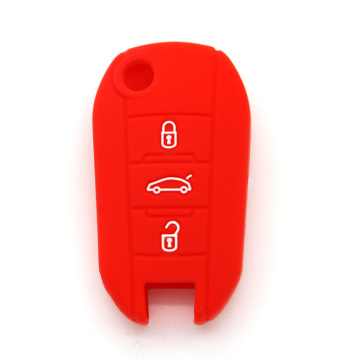 Car key protect silicone case for Peugeot