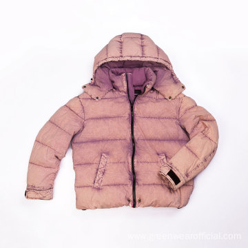 Garment dyed down jacket
