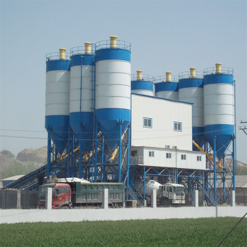 Stationary HZS90 concrete batching plant price