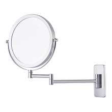 Square extending magnifying wall mirror