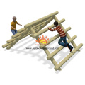 Kids Climb Wooden Playhouse Net Climbing Structures